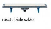 WINKIEL DESIGN odwodnienie liniowe EKOLINE 800 mm z rusztem VERTO białe szkło