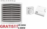 VOLCANO EUROHEAT VR MINI nagrzewnica wodna 3-20 KW + potencjometr i termostat