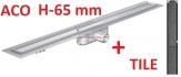 ACO odwodnienie prysznicowe h-65mm TILE L-585mm