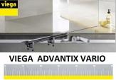 VIEGA ADVANTIX VARIO odwodnienie prysznicowe 300-1200 + ruszt SR1 stal nierdzewna mat