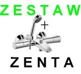 KLUDI ZENTA Zestaw bateria wannowa termostatyczna z natryskiem S1