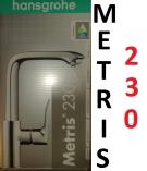 HANSGROHE METRIS E2 230 bateria umywalkowa obrotowa wylewka chrom