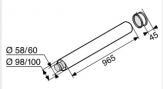 SAUNIER DUVAL system powietrzno spalinowy rura 1 mb 60/100