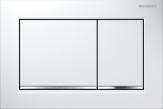 Przycisk uruchamiający Geberit Omega30, przedni/górny, biały-chrom bł.-biały