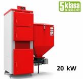 Heiztechnik Q EKO GL 20 kW kocioł podajnikowy 5 klasy do spalania ekogroszku
