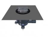 HL Wpust prysznicowy DN40/50 poziomy o regulowanej wysokości zabudowy 62-200 mm z zestawem uszczelniającym i syfonem antyzapachowym
