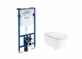 ROCA Inspira Zestaw podtynkowy Duplo + miska WC podwieszana ROUND Rimless + deska SUPRALIT ®