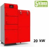Heiztechnik HT EKO GL 20 kW kocioł podajnikowy 5 klasy do spalania ekogroszku