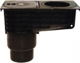 HL 660/2 Wpust rynnowy Minimax DN110/125 z koszem na liście, uszczelkami pod rury spustowe d 75-110mm i mrozoodporną klapą antyzapachową