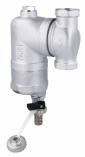 AFRISO eparator zanieczyszczeń FAR 201, chromowany, z magnesem i zaworem spustowym, ruchome przyłącza Rp3/4''