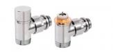 COMAP DESIGN zestaw zawór termostatyczny + zawór powrotny chrom