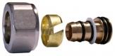 SCHLOSSER Złączka zaciskowa do rury z tworzywa sztucznego GW M22x1,5 - 16x2 antyczna miedź