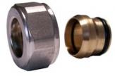 SCHLOSSER Złączka zaciskowa do rury z miedzi. GW M22x1,5 x 15mm biała