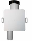 HL 138 Syfon podtynkowy do skroplin DN32 - 100x100mm