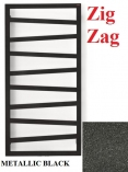 TERMA TECHNOLOGIE  Zig Zag 835x500 GRZEJNIK ŁAZIENKOWY METALIC BLACK SX
