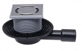 HL 90PR Wpust podłogowy NISKI DN40/50 poziomy z zasyfonowaniem PRIMUS, 123x123mm/115x115mm