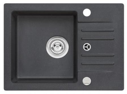ALVEUS Foxtrot 30 zlewozmywak granitowy czarny + bateria Tonia