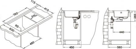 ALVEUS FALCON 30 zlewozmywak granitowy czarny 1413091