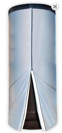 GALMET 26-2090 Wymiennik biwalentne z dwiema wężownicami spiralnymi do kolektorów słonecznych i sieci c.o 200 L