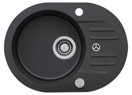 ALVEUS FOXTROT 40 Zlewozmywak granital kolor czarny + bateria Tonia