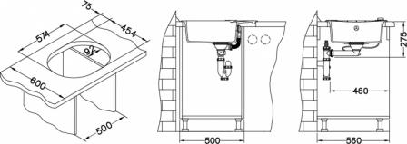 ALVEUS ROLL 40 zlewozmywak granitowy beżowy 1214055