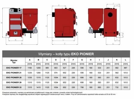 STALMARK EKO PIONIER kocioł z podnikiem 5 klasy 25KW