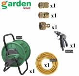 GARDEN  zestaw akcesoriów ogrodowych 6-elementowy mosiądz