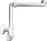 HL Syfon umywalkowo -meblowy DN32x5/4', nastawny mimośrodowo, czyszczak, rozeta
