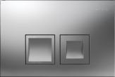 Delta50 - przycisk uruchamiający przedni do spłuczek podtynkowych UP100 chrom matowy