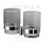 STELLA Classic Uchwyt ze szklanką podwójny  / szkło matowe 07.412