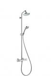 HANSGROHE Showerpipe Croma 160  zestaw natryskowy z deszczownicą i baterią termostatyczną