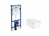 ROCA Inspira Zestaw podtynkowy Duplo + miska WC podwieszana SQUARE Rimless + deska SUPRALIT ®