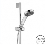 KLUDI A-QAb Zestaw natryskowy 1S Pręt ścienny L = 600 mm: CHROM