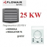 FLOWAIR nagrzewnica wodna 25,4 KW LEO FB 25 V konsola i regulator  gratis