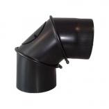 Kolano spalinowe regulowane do kotła węglowego , kominka 150mm
