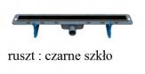 WINKIEL DESIGN odwodnienie liniowe EKOLINE 800 mm z rusztem VERTO czarne szkło
