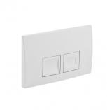 Delta50 - przycisk uruchamiający przedni do spłuczek podtynkowych UP100 biały