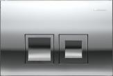 Delta50 - przycisk uruchamiający przedni do spłuczek podtynkowych UP100 chrom błyszczący