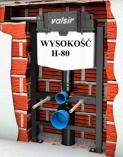 VALSIR WINNER-S stelaż wc H-80 do lekkej zabudowy