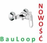GROHE BauLoop jednouchwytowa bateria prysznicowa 23340 000  CHROM NOWOŚĆ