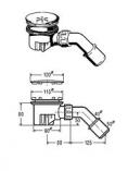 VIEGA Syfon brodzikowy TEMPOPLEX 90