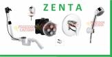 KLUDI ROTEXA MULTI + bateria podtynkowa ZENTA - kompletny zestaw do napełniania wanny przez przelew