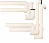 HL 136N Syfon kondensacyjny DN40 poziomy z podłączeniem 5/4' lub d 12-18 mm pionowym lub poziomym, zasyfonowanie wodne z mechanicznym zamknięciem przeciwzapachowym i czyszczakiem.