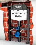 VALSIR WINNER-S stelaż wc H114 do lekkej zabudowy