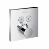 HANSGROHE Bateria termostatyczna ShowerSelect podtynkowa dla 2 odbiorników, element  zewnętrzny CHROM