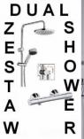 KLUDI DUAL SHOWER DESZCZOWNICA Z TERMOSTATEM ZENTA S2 CHROM 6609005+351000538
