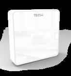TECH C-8RB Bezprzewodowy czujnik pokojowy – rejestracja (biały)