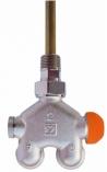 HERZ Zaworów termostatyczny z rurką nurnikową czterodrogowy 1/2 '' kątowy