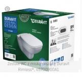 DURAVIT D-Code Zestaw WC z miską wiszącą Duravit Rimless®