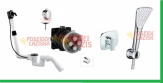KLUDI ROTEXA MULTI + bateria podtynkowa AMEO - kompletny zestaw do napełniania wanny przez przelew